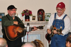 Joe Newberry and Mike Compton at a house concert