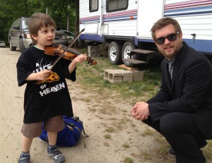 Clayton Campbell & JoeJoe Saroyan at Strawberry Park in Preston, CT, 2012